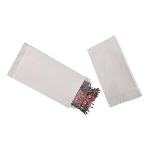 Näytepussi NP01TV valkoinen 20 x 6 x 33 cm tarrasuljennalla