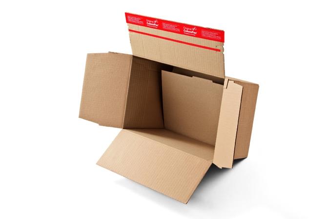 Pahvilaatikot pikapohjalla, tarrasuljennalla ja repäisynauhalla