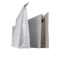 Näytepussi NP0TV valkoinen 16 x 6 x 33 cm tarrasuljennalla